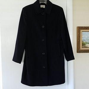LL BEAN Wool/Cashmere Coat